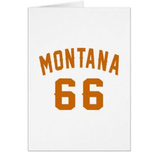 Cartão Montana 66 designs do aniversário