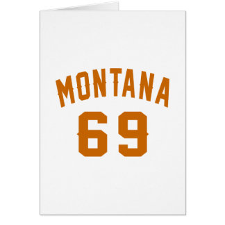 Cartão Montana 69 designs do aniversário