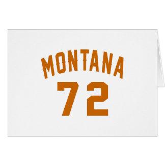 Cartão Montana 72 designs do aniversário