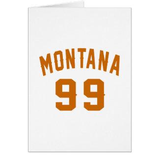 Cartão Montana 99 designs do aniversário