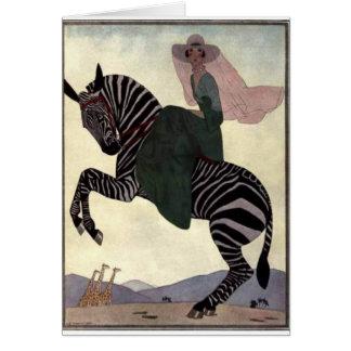 Cartão Montando a zebra