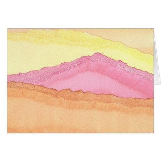 Cartão Montanha cor-de-rosa por Cynthia Wenslow