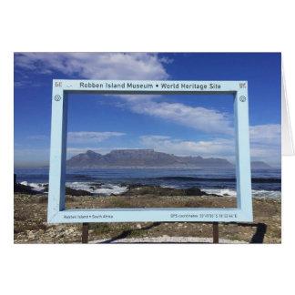 Cartão Montanha da mesa de quadros de África do Sul, ilha