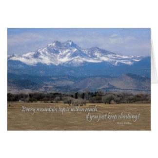 Cartão Montanha da motivação