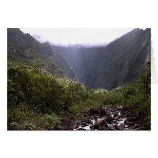 Cartão Montanha de Kauai