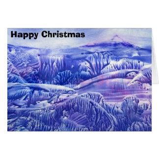 Cartão Montanha, Natal feliz