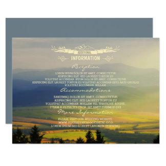 Cartão Montanhas da noite do por do sol que Wedding a