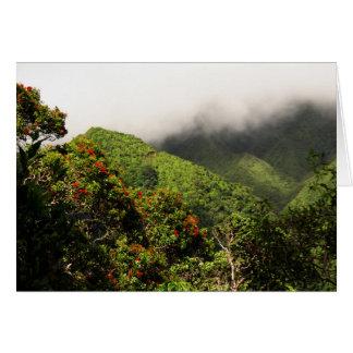 Cartão Montanhas de Koolau
