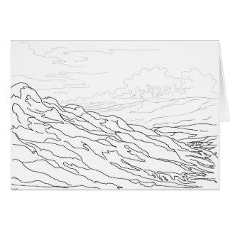 Cartão Montanhas de Sangre de Cristo e vale do Rio Grande