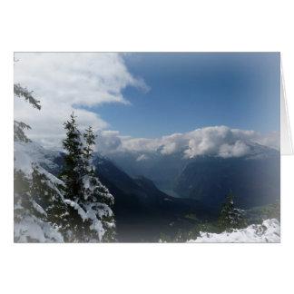 Cartão Montanhas nevado