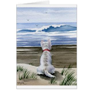 Cartão Montanhas ocidentais Terrier