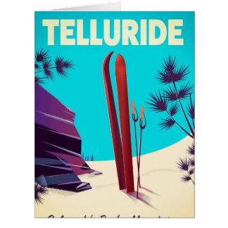 Cartão Montanhas rochosas do esqui do Telluride