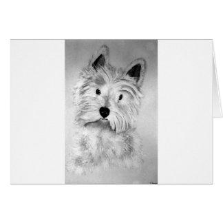 Cartão Montanhas Terrier branco ocidentais
