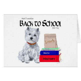 Cartão Montanhas Terrier branco ocidentais de volta à
