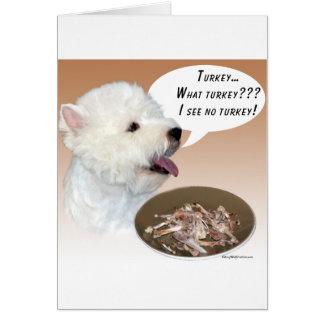 Cartão Montanhas Terrier branco ocidentais Turquia