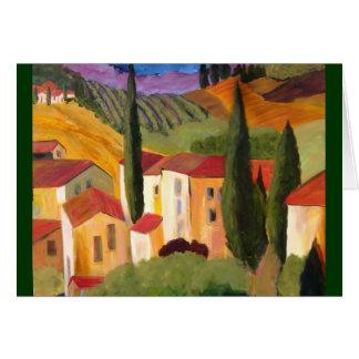 Cartão Montanhês de Tuscan pelo artista Therese