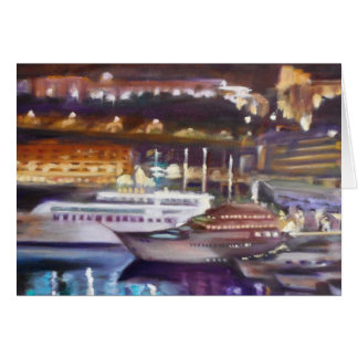 Cartão Monte - Carlo na noite