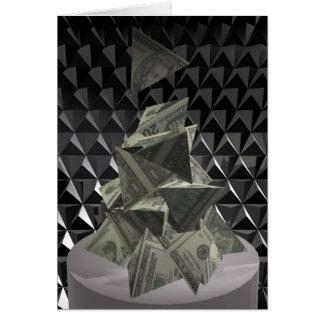 Cartão Monte de pedras 2 do dinheiro