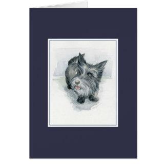 Cartão Monte de pedras de Terrier-rific