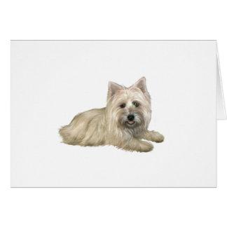 Cartão Monte de pedras Terrier (Wheaten) - encontrando-se