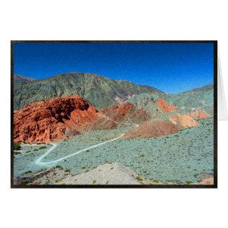 Cartão Monte de sete cores em Purmamarca, Argentina