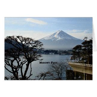 Cartão Monte Fuji bonito