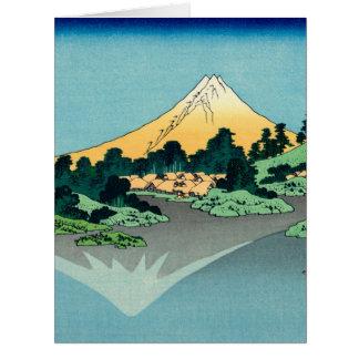 Cartão Monte Fuji reflete