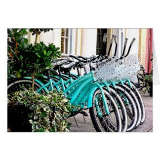 Cartão monte para trás a bicicleta