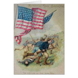 Cartão Monte Roosevelt de San Juan da bandeira dos E.U.