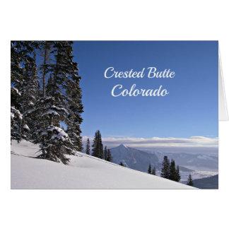 Cartão Montículo com crista, CO