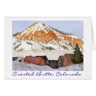 Cartão Montículo com crista, Colorado