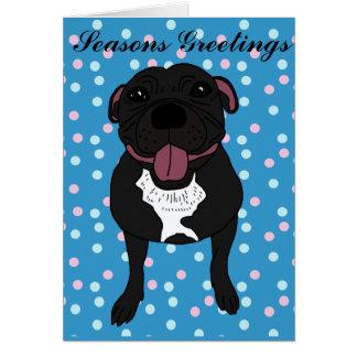 Cartão Monty o Staffordshire bull terrier