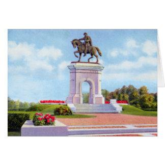 Cartão Monumento de Houston Texas Sam Houston