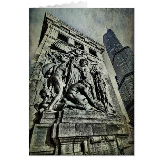 Cartão Monumento do Ft Dearborn