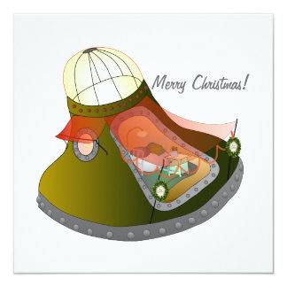 Cartão Moonhouse do convite do Natal