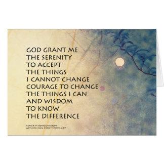 Cartão Moonrise do primavera da oração da serenidade