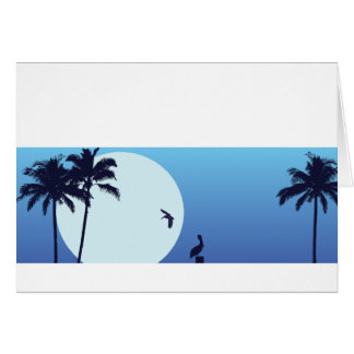 Cartão Moonrise Notecard customizável de Santa Barbara