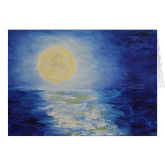 Cartão Moonrise sobre o Lago Michigan II (detalhe)