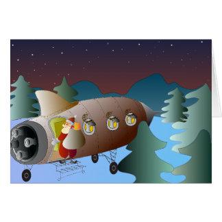 Cartão Moonrocket do Natal