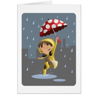 Cartão Morgan na chuva