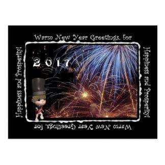 Cartão morno de 2017 cumprimentos do ano novo
