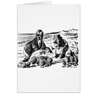 Cartão Morsa, Carpeter e ostras