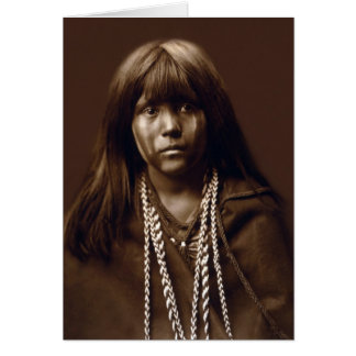 Cartão Mosa - uma mulher do Mojave - arquivos do nativo