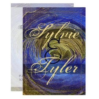 Cartão Mosaico cor-de-rosa do azul e do abstrato do ouro