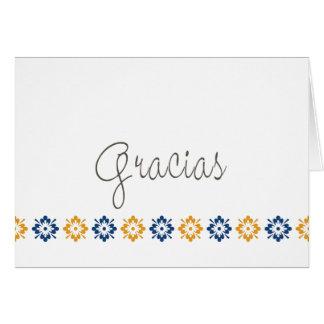 Cartão Mosaico de agradecimiento