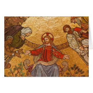 Cartão mosaico do Jesus Cristo
