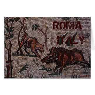 Cartão Mosaico romano