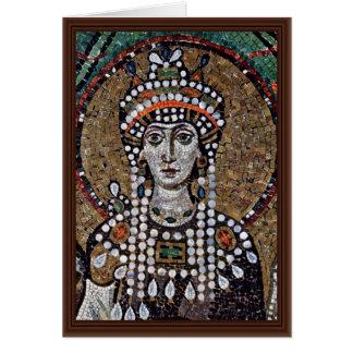 Cartão Mosaicos de Chor em San Vitale em Ravenna, Szene: