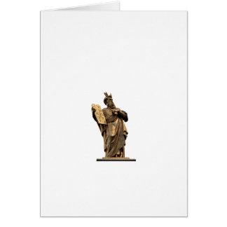 Cartão moses e dez mandamentos dourados