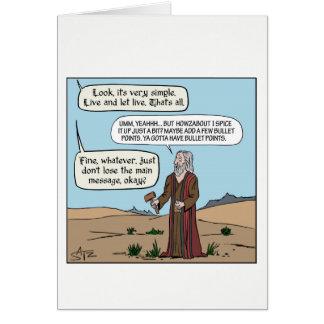 Cartão Moses que obtem os mandamentos